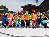 Childres´s group with ski instructor Katrin